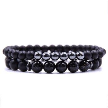 Bracelet couple à distance noir