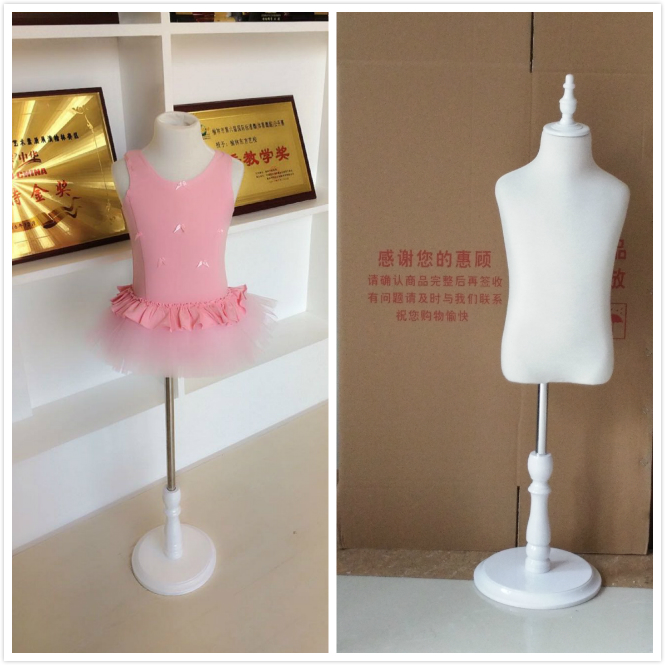 1pcs 6 Years Old Round Tripod Holder Children Mannequins For Fashion Dresses Boy And Girls Upper-Body Cosmetology Window Display