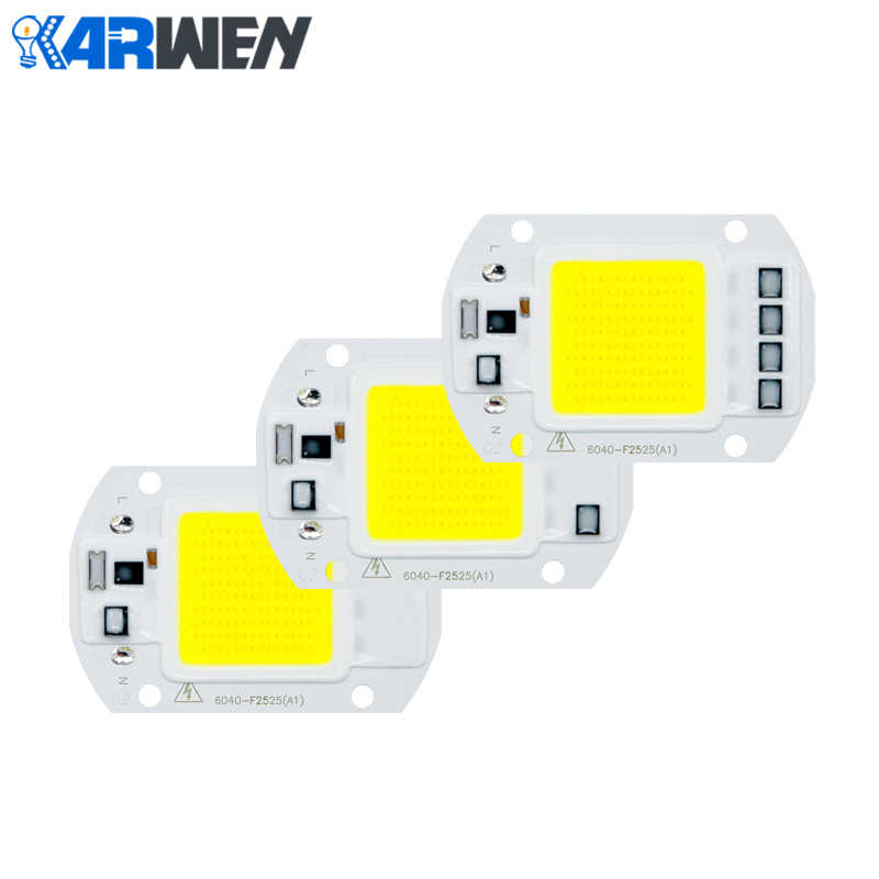 KARWEN LED COB Lamp Chip LED Lens Reflector 20W 30W 50W 220V 230V Input Smart IC Driver Fit For DIY Floodlight Spotlight