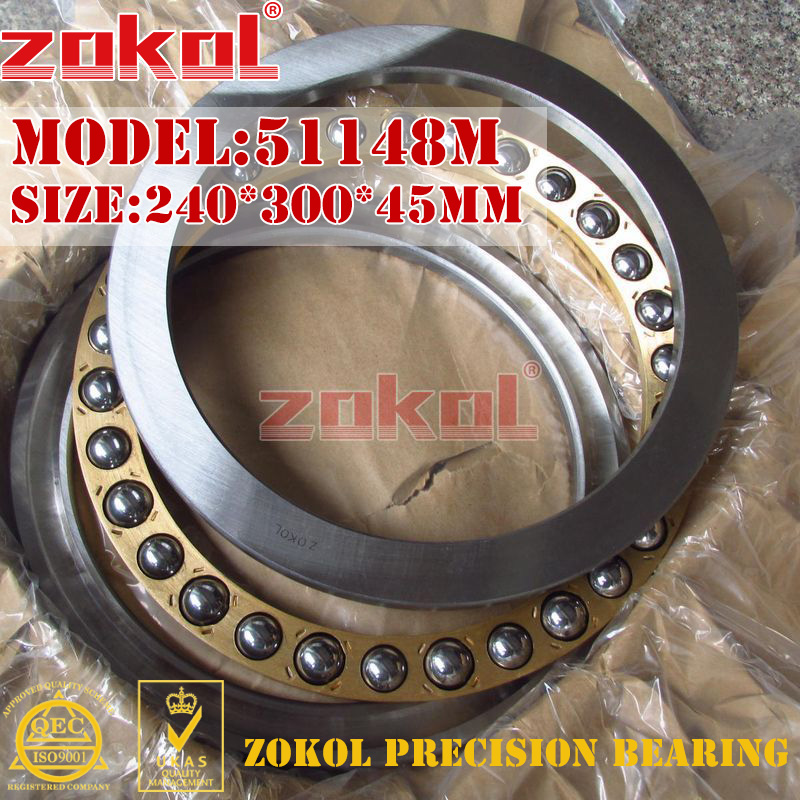 ZOKOL bearing 51148M Thrust Ball Bearing  8148H 240*300*45mm zokol bearing 51411 thrust ball bearing 8411 55 120 48mm
