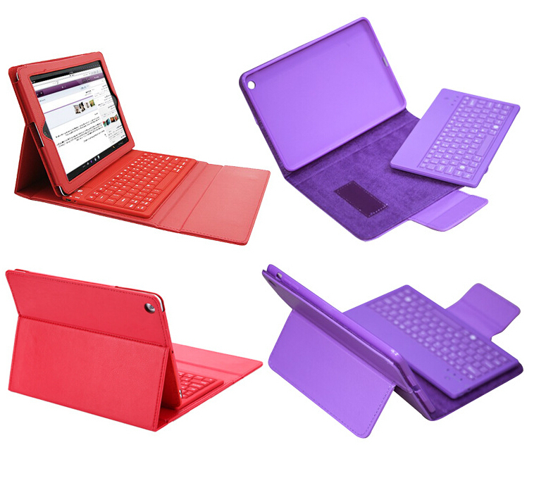 1 PCS/Lots Smart PU Leather Stand Wireless Bluetooth Keyboard Case For Ipad 2/3/4