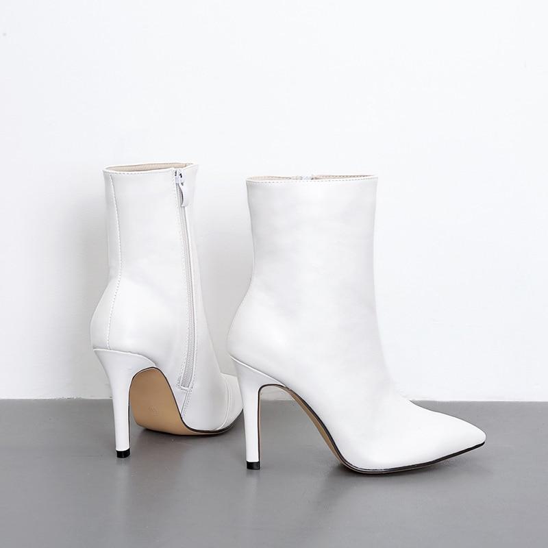 Zapatos Botas Hermosos Tacones Mujer Con Blanca Nueva Moda Finas X7wHqw6x