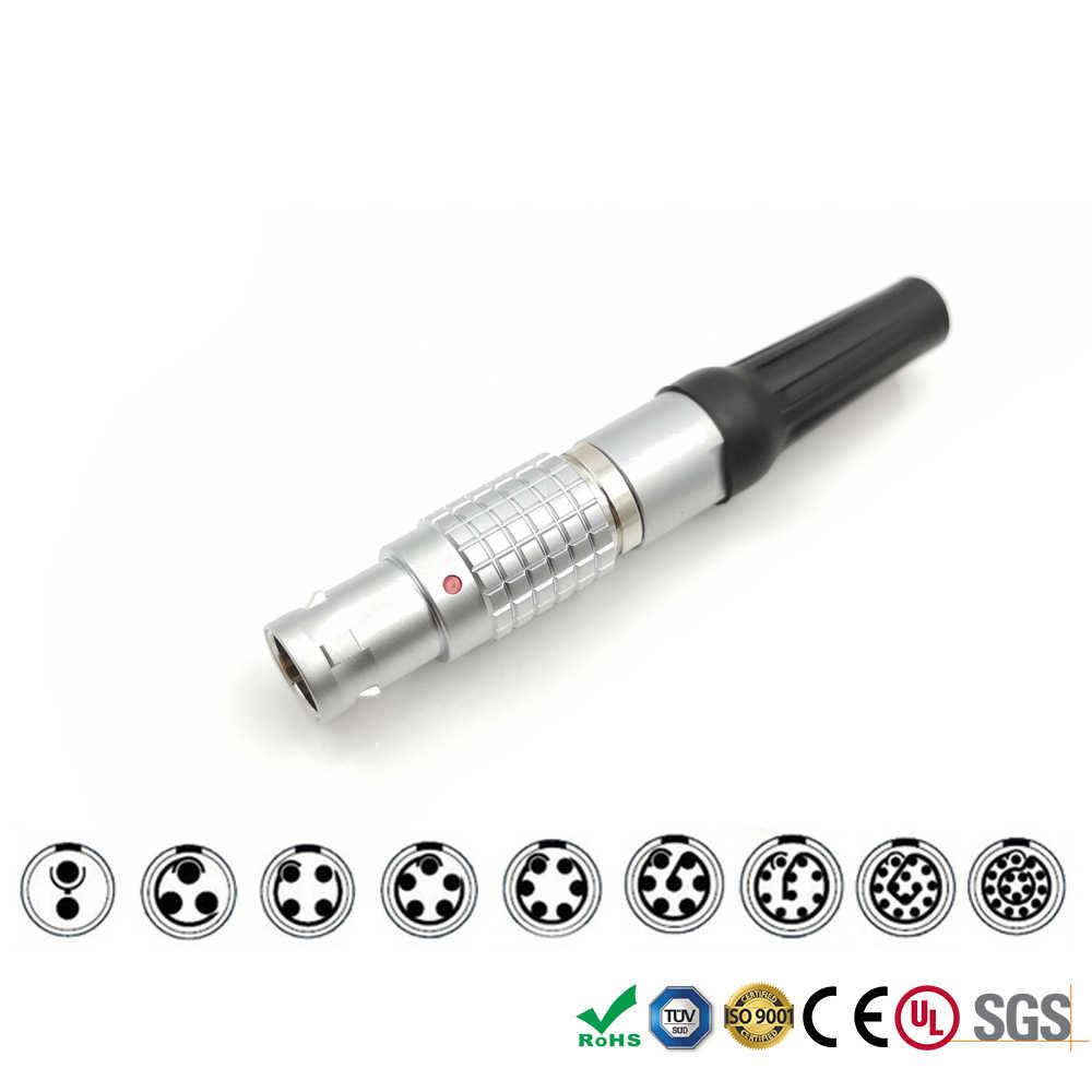 LEMO FGG 1B 2 3 4 5 6 7 8 10 14 16 контактный штекер прямой металлический круговой Push-pull разъем