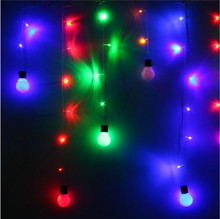 1.5M 10 Ball Bulb LED Fairy String Light Wedding Party Christmas Lamp Xmas Decor US EU Plug