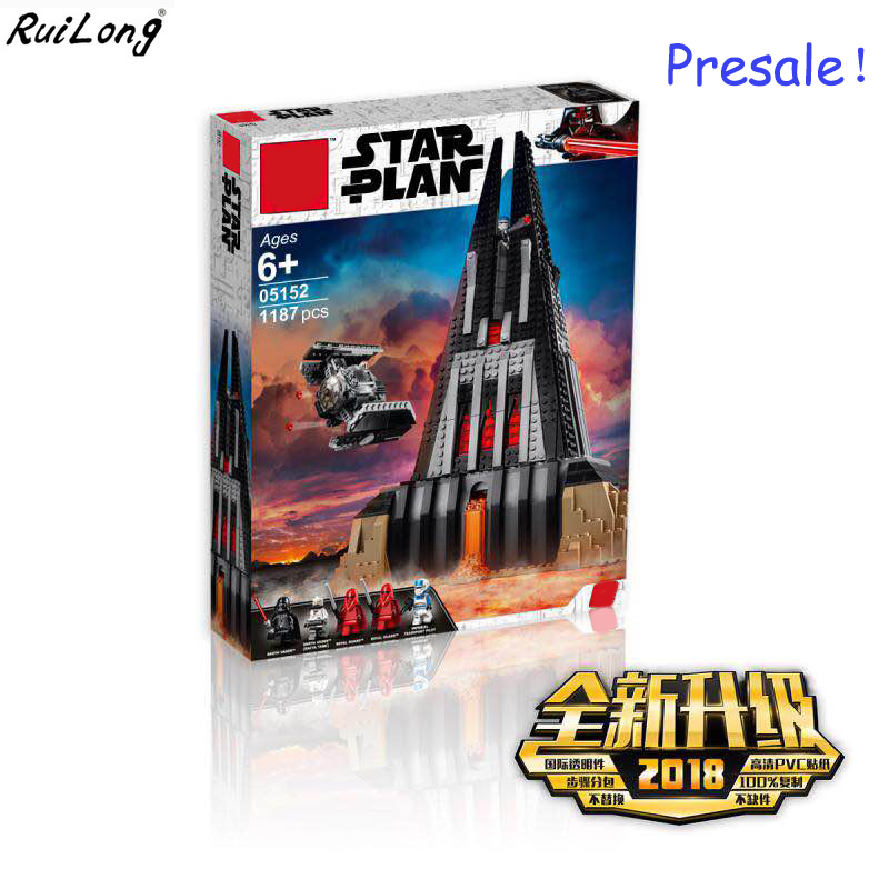 New Star Wars Darth Vader's Castle Compatible With Legoingly StarWars 75251 Building Blocks Bricks Boy Toys Christmas Gifts [jkela] 1pc star wars kallus r5d4 robot count dooku darth vader darth maul building blocks toy compatible legoingly starwars