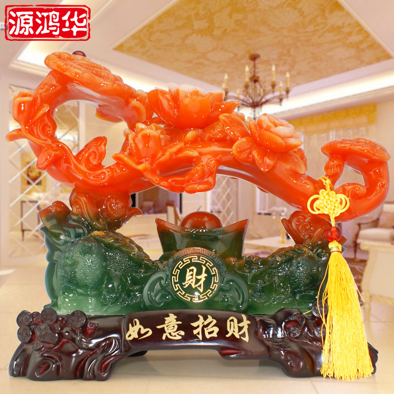 2016 New Direct Selling Yuan Honghua For Wishful Lucky Imitation Jade Handicrafts Business Gifts Shop Decoration