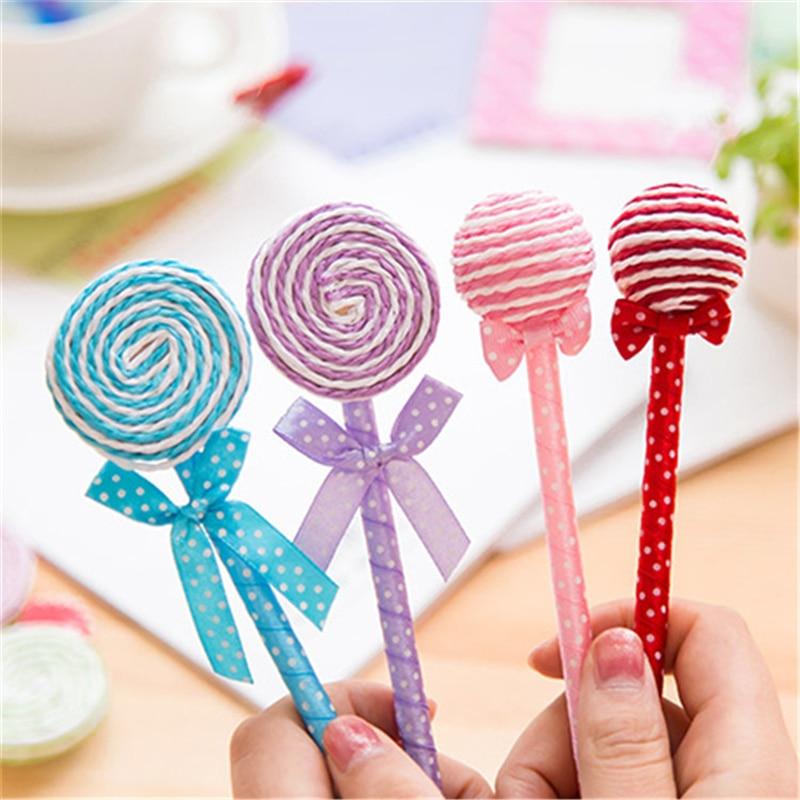 24 шт./лот Творческий Lollipop Шариковая ручка Сувениры День рождения Baby Shower подарок с днем рождения украшения Дети