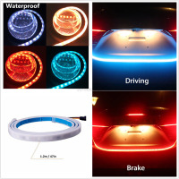 LED Strip Trunk Tail Brake Turn Signal Light Flow Type Ice Blue Red Yellow White