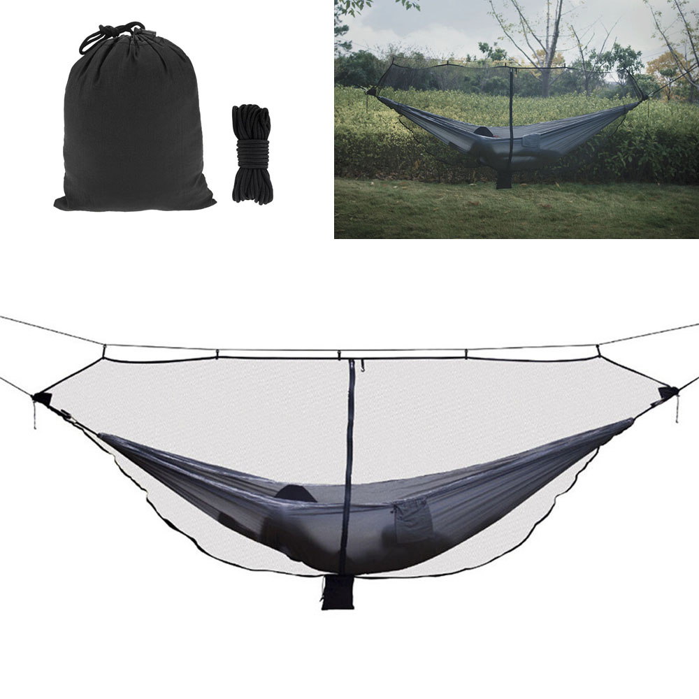 Portable Ultralight Hammock Mosquito Net Outdoor Hunting Camping Nylon Hanging Bed High Strength Mesh Sleeping Hammock Backpack ...