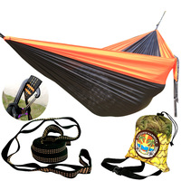 Double Hammock Lightweight Parachute Portable Hammocks For Hiking Travel Backpacking Beach Yard Gear Includes Nylon