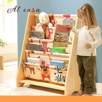 Solid Wood Bookcase Easy Install Book Shelf Wardrobe Kid S Picture Book Rack Living Room Home