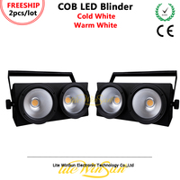 Litewinsune FREESHIP 2/LOT 2x100W LED COB DMX Blinder Background Lighting LED DOZ Panel Light