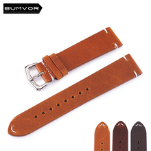Strap Premium Vintage Leather 18mm 20mm 22mm 24mm Calfskin Mens and Womens Watches Applicable
