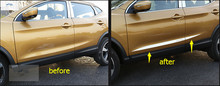 Exterior Stainless Steel Side Door Body Molding Protector Cover Trim For Nissan Qashqai J11 2014 2015