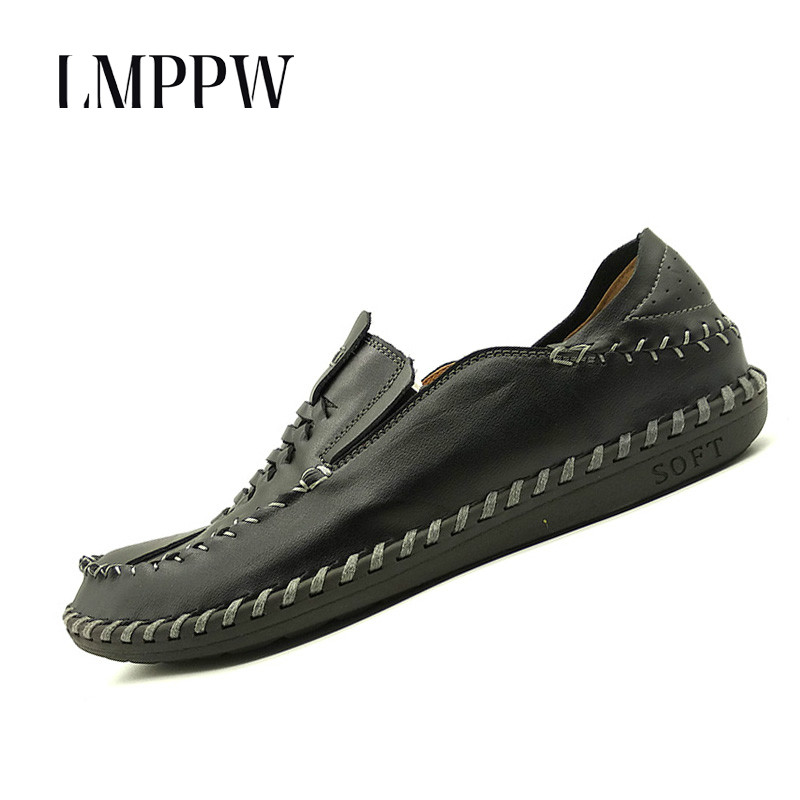 Luxury Brand Handmade Men's Boat Shoes Genuine Leather Loafers Fashion Designer Men Flats Slip on Driving Shoes Breathable 8 xizi quality genuine leather men loafers 2017 designer soft breathable casual mens leather suede flats boat shoes