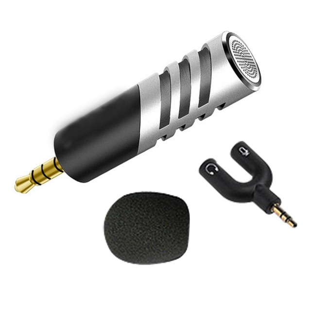 US $17 63 25% OFF|Portable Mini Condenser Microphone Professional Mobile  Phone Karaoke Sing Record Microphone 3 5mm Jack AUX for Phone Tablet-in