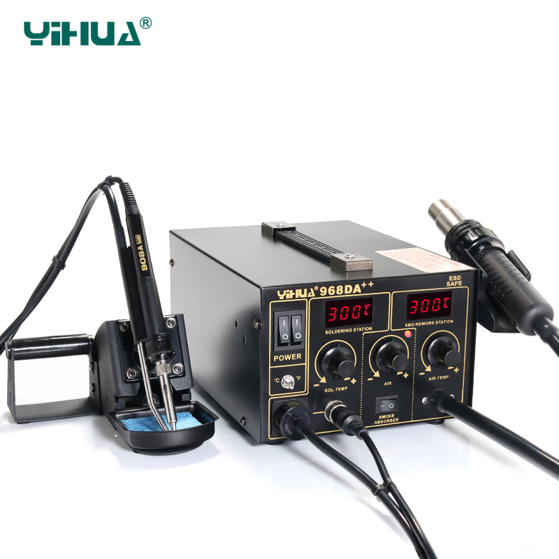 YIHUA 968DA Electronic Cell Phone 3 In1 Soldering PCB IC Rework Station 720W 220V