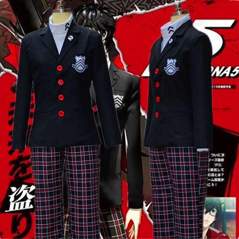 Jeu d'anime Persona 5 Akira Kurusu Cosplay Costumes Hommes Manteau Ren Amamiya Veste Halloween Femmes Uniforme Scolaire pour Unisexe