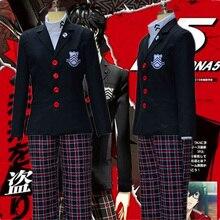 Аниме игра Persona 5 Акира Курусу Косплей Костюмы Мужчины Пальто Рен Амия куртка Хэллоуин женщин мужчин школьная униформа для унисекс