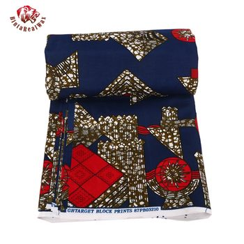 100% Polyester Wax Prints Fabric 2018 Ankara Super Hollandais Wax High Quality African Fabric for Party Dress PL584 1