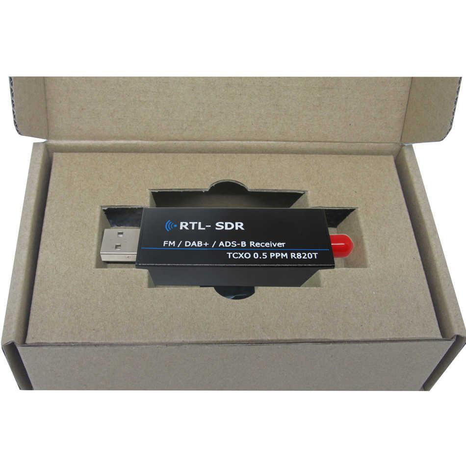 RTL2832u RTL SDR receiver R820t2 USB RTL-SDR dongle with 0 5ppm TCXO SMA  MJZSEE A300U