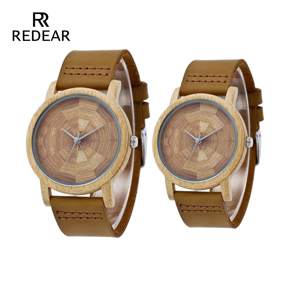 OEM Custom LOGO Love's Bamboo Watches No Scale Brown Leather Watch Strap Sport Watches For Love's Gift Item