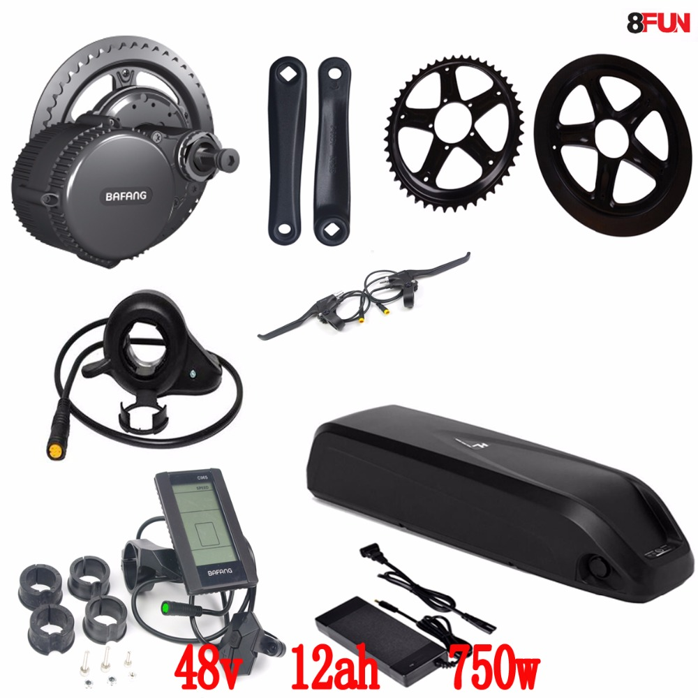 BBS02 Bafang/8fun 48V 750W mid drive electric motor kit + 48V 11.6Ah Li-ion down tube ebike battery teen boy tops t shirt 2017 new all star boys camisetas 3d t shirt print short sleeve curry james kobe durant mj children