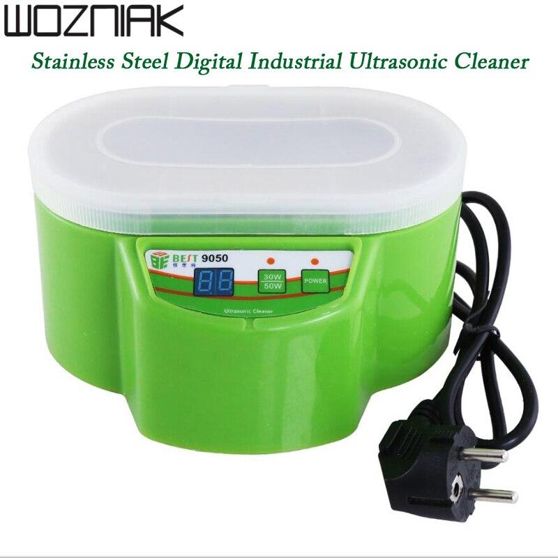 BEST 9050 оригинальный цифровой ультразвуковой очиститель для ванной многоцелевой ювелирные очки электронные промышленные звуковые волны 30 В