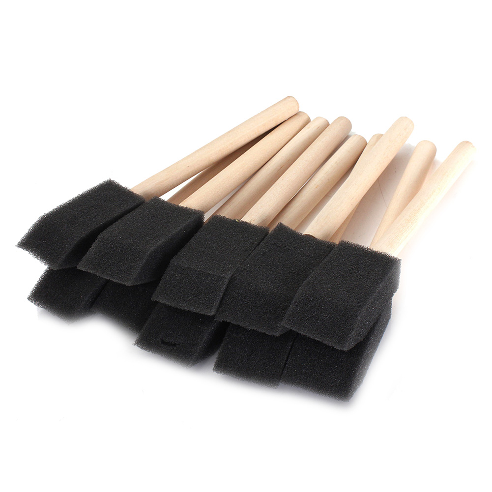 20 X 1 Inch (25mm) In Sponge Brushes Wooden Handle Painting Drawing Art Craft Draw