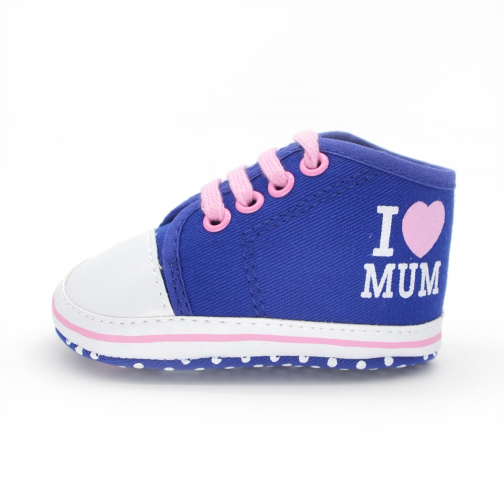 "Spring & Autumn Baby Shoes ""Love Mum"" Design Style 2016 Newborn Infant Toddler Soft Sole Baby Shoes"