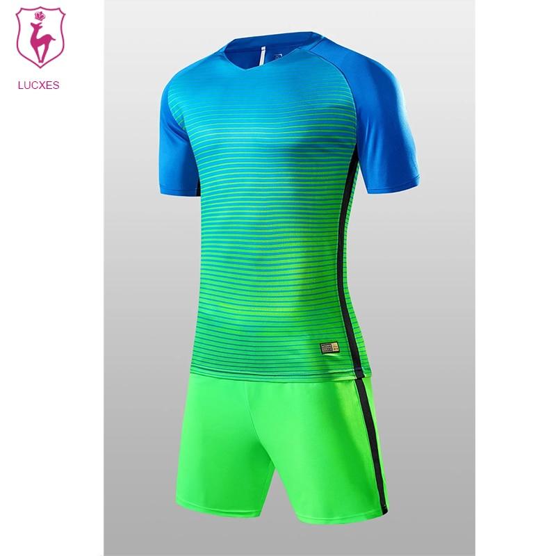 LUCXES High Quality Soccer Jerseys 2018 Men Custom Team Football Uniforms Sets College Soccer set Uniforms Kits Adult DIY .02 ...