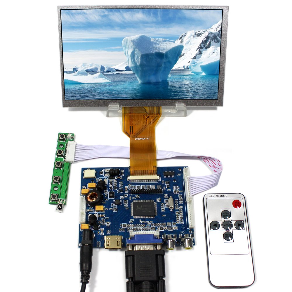 HDMI VGA 2AV Audio LCD Controller Board VS-TY2668-V1+7 800x480 AT070TN92 LCD Screen hq hdmi v1 3 7 5m hqss5550 7 5