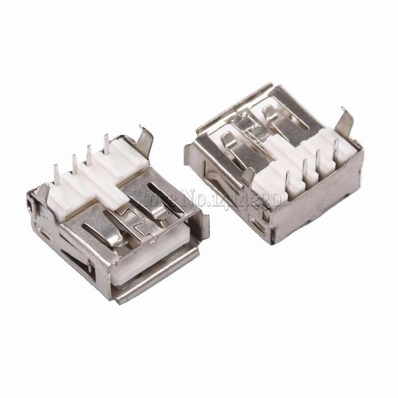 Женский Разъем для припоя, 10 шт., USB Type A, стандартный порт, USB-A, лидер продаж, 2019