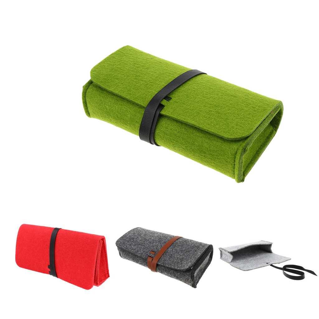 Женская и мужская сумка футляр из войлока мешок для очков чтения защищенный от