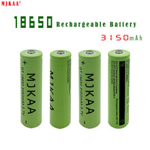 10pcs 18650 3150mAh Green Rechargeable Batteries Li-ion 3.7V Lithium Ion Battery