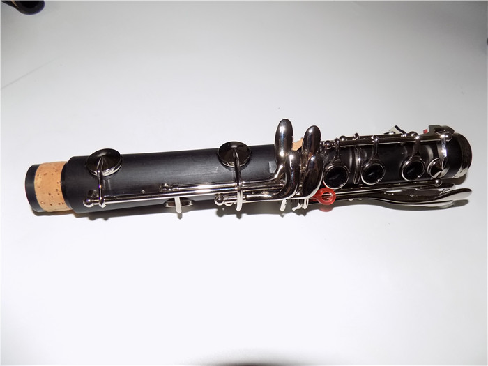 Купить с кэшбэком Bb Bakelite Clarinet Musical instruments 17 Keys clarinete Nickel Plated keys klarnet with ABS case