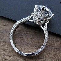 Choucong бренд Дизайн Для женщин jewelry 3ct 5A Циркон CZ 925 серебро Обручение обручальное кольцо для Для женщин