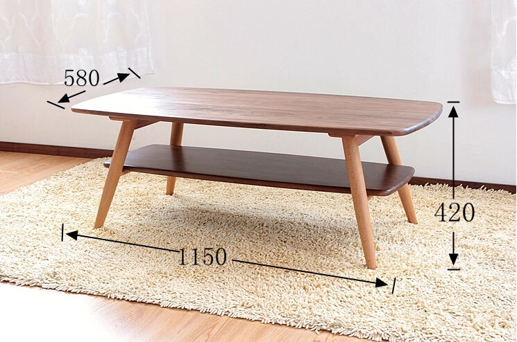 Walnut Coffee Table Triple Level Side Table Walnut Loading