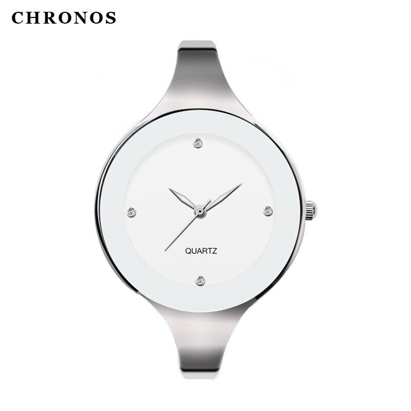 CHRONOS Brand Bracelet Watch Women Watches Luxury Crystal Women's Watches Full Steel Ladies Watch Clock montre femme reloj mujer