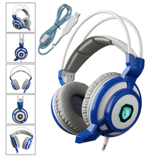SADES 905 Professional Gaming Headphones Vibration 7 1 Surround Stereo USB Headphones With Microphone For PC
