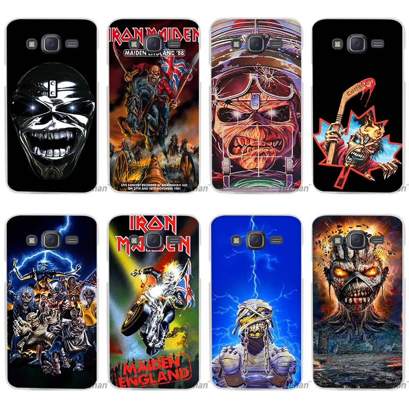hot sale iron maiden clear case cover coque shell for samsung galaxy j1 j2 j3 j5 j7 2016 2017. Black Bedroom Furniture Sets. Home Design Ideas