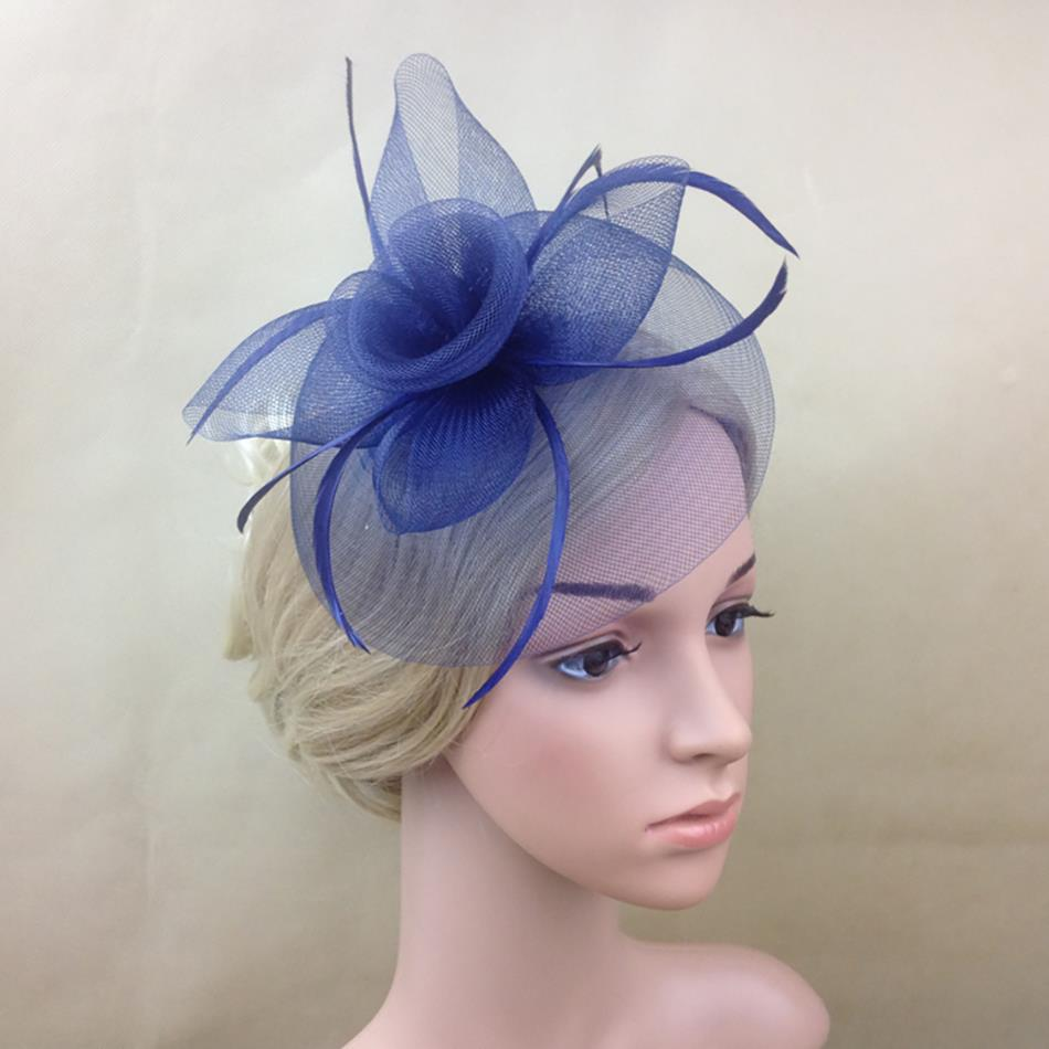 c0f26e9801a9c Ladies large ivory feather sinamay hats women hair accessories fancy  fascinators for wedding party and races-in Women s Hair Accessories from  Apparel ...
