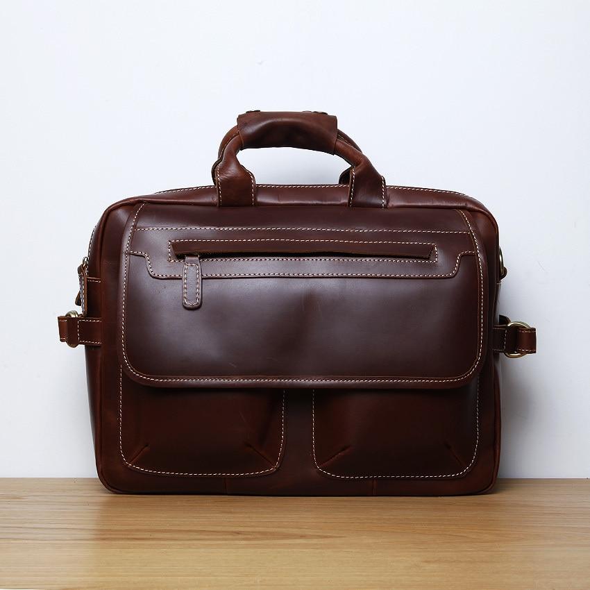 LAN Free shipping mens leather briefcases Shoulder bag handbag,Men Travel Bags computer Business bag,Briefcase