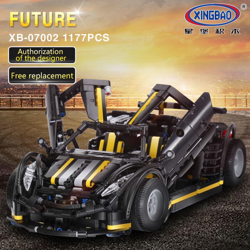 XingBao 07002 MOC Series The Balisong small Supercar Set children Educational Building Blocks Bricks legoinglys Toys Model Gift 2017 new 10680 2324pcs pirate ship series the slient mary set children educational building blocks model bricks toys gift 71042