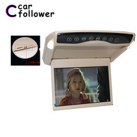 10.1 Inch Car Roof Monitor 1024*600 Flip Down LCD Color Car DVD Player Support USB/SD/FM/Speaker/1080P HD Video Decoding MP5