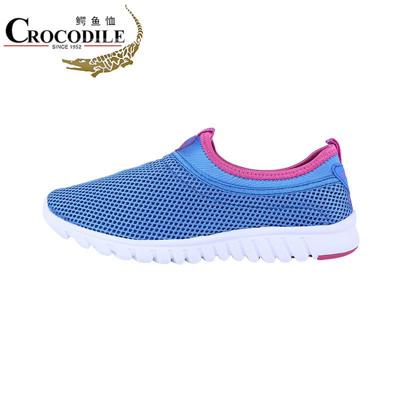 Crocodile New Women's Athletic Sneakers Running Shoes Lazy Breathable Women Mesh Light Loafers Ladies Balance Sport Shoes4121138 kelme hot 2017 women sneakers breathable sport shoes female running shoes light sneakers for women shoes 34 39 shoes