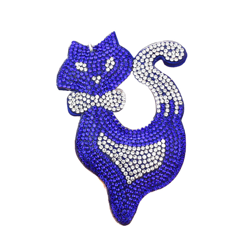 1PC Chic Trendy Ladies Girls Lovely Fox Multi Color Rhinestone Cell Phone Car Keychain Key Ring Hand Bag Accessory