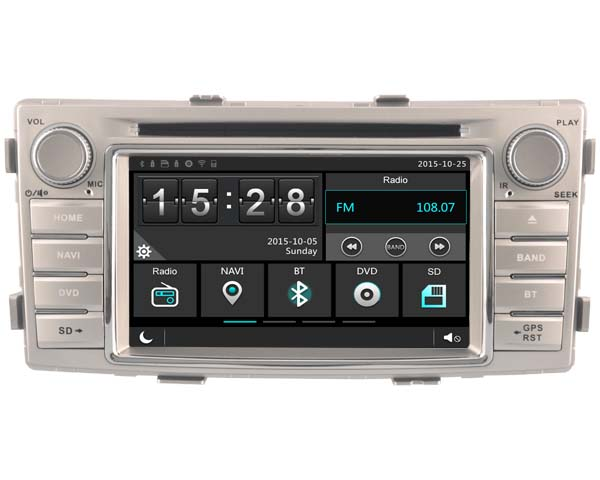 Car Gps Dvd Stereo Player Radio for Toyota Hilux 2012 2014 Navigation Bluetooth Call A2DP Link HD Multimedia 3G WIFI DVR SWC