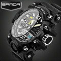 2016 Latest Fashion Digital Wristwatches Men Sport Quartz Watches Luminous Pointer Shockproof Fashion Watch Relogio Masculino