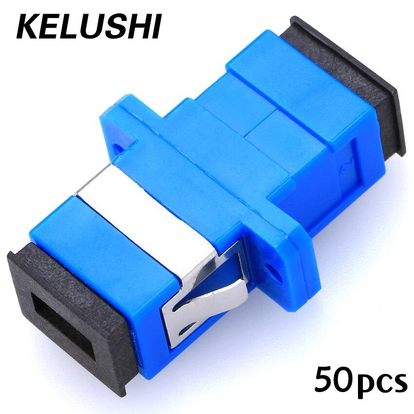 Free Shipping 50pcs/lot New SC Fiber Optic Adapter SC Flange Coupler SC/UPC Adaptor Fiber Coupler For Digital Communications